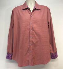 Robert Graham Button Front Shirt Mens Size XL Flip Cuff Long Sleeve Tailored Fit