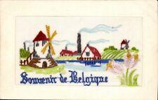 World War 1 Silk. Souvenir de Belgique. Windmill & Factory.