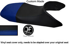 BLACK AND ROYAL BLUE VINYL CUSTOM FITS HONDA TRANSALP XL 650 SEAT COVER ONLY