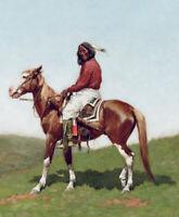 Comanche Brave Frederic Remington Wall Art Print Canvas Giclee Repro Poster 8x10