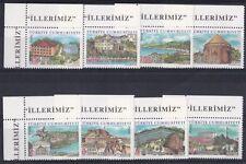 Turchia 2007 Città capoluoghi di provincia  4 serie 3356-63 MNH