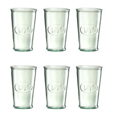 Amici Home Milk Cow Recycled Glass Drinkware, Set of 6 Glasses