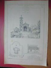 Croquis architecture 19°:Une chapelle rurale,Esquisse par Mr FOULHOUX