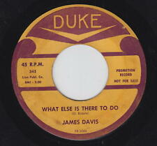 James Davis 45rpm Duke 343 PROMO Come To The Rock & Roll/What Else Is There