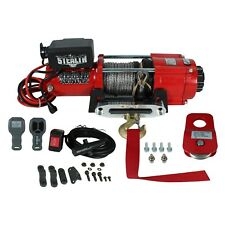 Stealth 4500lb 12v Electric Winch with Synthetic Rope & Pulley Block