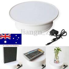 360° Rotating 20cm White Anti-slip Turntable Display Stand Power by AC & Battery