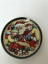 Mary Engelbreit Children With Santa Clause Christmas Cookie Plate