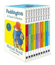 NEW Paddington Bear Classic Adventures 10 Books Library Collection Gift Box Set