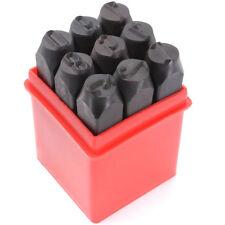 9 pzs sellos de numeros punzon de acero de metal caja de herramienta 5mm G8B6