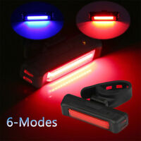 Cycling Bicycle Bike Tail Light 6-Mode Rear Safety Warning LED Flashing Bulbs