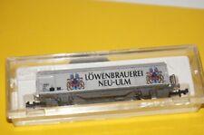 RF28] N ROCO/BAUR.DB Güterwagen LÖWENBRAUEREI NEU-ULM - silber 🔲 - top in OVP