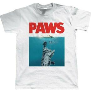 Paws T-shirt Jaws Movie Film Classic Men Women Retro  70s 80s Tee