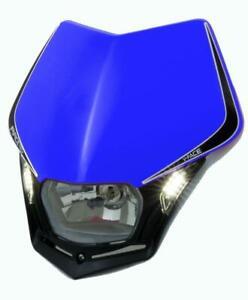 Racetech Mx Head Light V-Face LED Blue Off Road Motorbike Dirt Bike Headlight