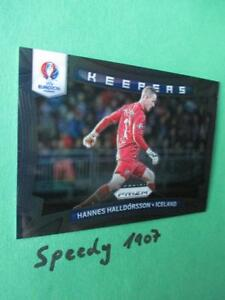 Panini PRIZM Keepers Iceland  Euro 2016 Hannes Halldorsson Goal 16 Black 1 of 1