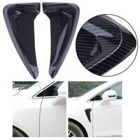 Pair Carbon Fiber Side Fender Air Vent Trim For BMW X5 F15 M Sport 14-16 Decor