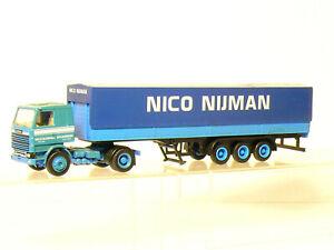 Herpa Scania Semirremolque Nico Nijman Camión H0 / 1:87