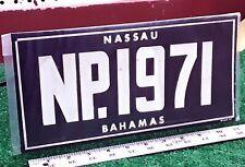 BAHAMAS - NEW PROVIDENCE NASSAU - 1971 Sample/Souvenir license plate, flat steel