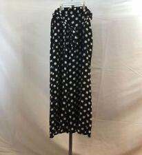 LC /_ Mujer Casual Gasa Pantalones Color Sólido Cintura Elástica de Largo