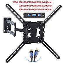 """Full Motion Tilt Swivel TV Wall Mount 26 29 32 39 42 46 48 50 55"""" LED LCD Plasma"""