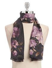 Ralph Lauren Women's IRINA Silk Floral Oblong Scarf  Black Combo
