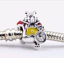 Disney White Rabbit Alice in wonderland bead Charm Fits European Bracelets 124