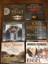 38 CD Hörbuch 6 Hörbücher Paket Konvolut Krimi Thriller Eschbach Grisham Brown
