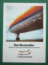 6/81 PUB AIRBUS A300 A310 AIRLINER PIA PAKISTAN SAS KLM AIR FRANCE GERMAN AD