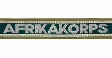 German Army AFRIKA KORPS OFFICERS BEVO CUFF TITLE - Premium Quality - WW2 Repro