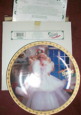 Enesco Happy Holidays Barbie 1989 Limited Edition Collector's Plate