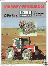Farm Tractor Brochure - Massey Ferguson - MF 1000 Series - Perkins 1990 (FB298)