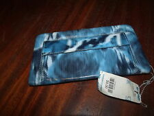Ladies Blue/Black/White Long Wallet / clutch / organizer -new/synthetic material