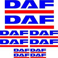 DAF decals, graphics, stickers x10 pieces Full colour