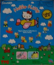 HELLO KITTY FIGURE CHARM COLLECTION RETRO SERIES SET OF 8 FIGURES