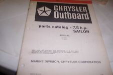 CHRYSLER 1981 7.5hp Sailor  Outboards Parts Book
