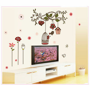 Flower Branches Removable Wall Decal, Wall Stickers, Kids Room