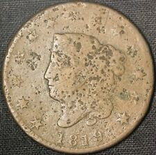 1819 Coronet Head Large Cent - Free Shipping Usa