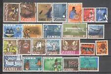 S6674 - ZAMBIA 1968 - LOTTO TEMATICI DIFFERENTI DEL PERIODO - VEDI FOTO