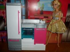BARBIE DREAMHOUSE - REPLACEMENT KITCHEN APPLIANCES ASSEMBLY REFRIGERATOR STOVE S