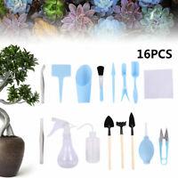 16Pcs Mini Garden Gardening Hand Tools Set Succulent Bonsai Indoor Plant Care