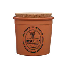 Premier Brown Terracotta Biscuit Cookie Jar Storage Pot Canister with Cork Lid