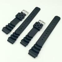 18 20 22mm Waterproof Diving Silicone Rubber Buckle Bracelet Watch Band Strap