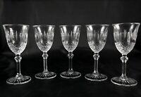 5 Elegant Vintage Lead Crystal Shot Liqueur or Spirit Glasses
