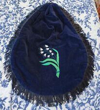 Navy Blue Velvet 1864 Godey's Travel Bag