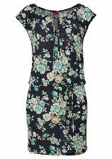 s.Oliver Beachwear Strandkleid schwarz, grün Gr. 34 Neu (E223)