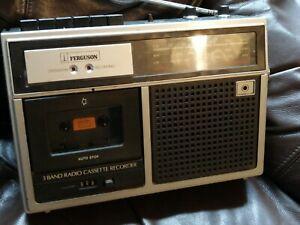 Vintage Ferguson 3T11 Vintage Retro FM/MW/LW 3 Band Radio Cassette Recorder .