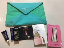 Guerlain beauty 6pc kit: mascara, lipstick, mon, orchidee eye & lip, serum,pouch