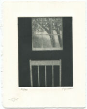 Robert Kipniss Mezzotint Landscape with Window and Chair 2000