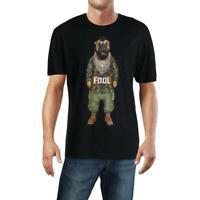 Eleven Paris Mens Fool Black Graphic Short Sleeve Tee T-Shirt S BHFO 3861