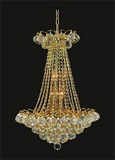 """GOLD CHANDELIER (D16"""" x H23"""") comes with CRYSTALS, up to 8 lights LOWEST PRICE"""