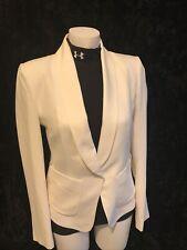 BNWT Ladies Patrizia Pepe Cream Blazer Smart Short jacket Size 44/12 RRP £295